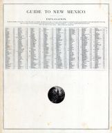 New Mexico - Guide, United States 1885 Atlas of Central and Midwestern States